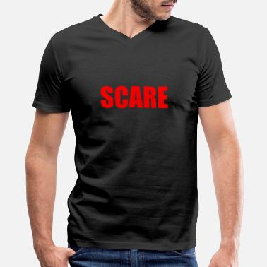 Scared SCARE - Men's V-Neck T-Shirt