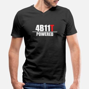 Evo X 4B11T Powered - Men's V-Neck T-Shirt by Canvas