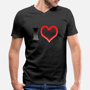 I Heart I Heart... - Men's V-Neck T-Shirt