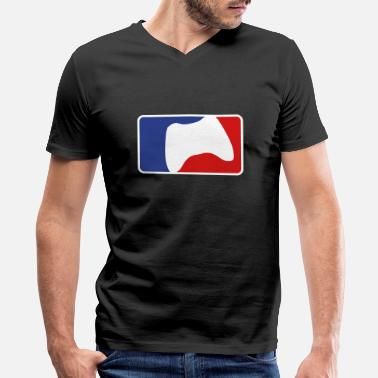 League Game Gaming League - Men's V-Neck T-Shirt