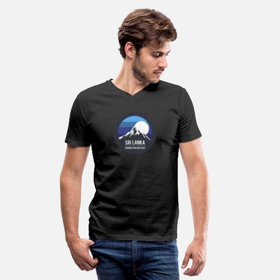 Sri Lanka T-Shirts - sri lanka - Men's V-Neck T-Shirt black