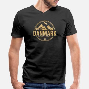 Emblem Denmark hiking climbing - Men's V-Neck T-Shirt