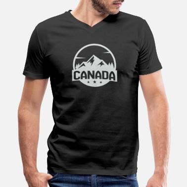 I Love Canada Mountain - Men's V-Neck T-Shirt