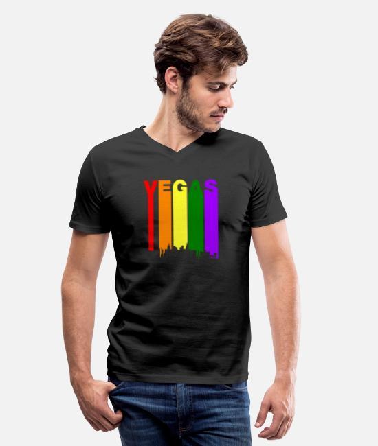 Las Vegas Nevada Rainbow Skyline LGBT Gay Pride T-Shirt