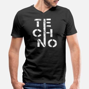 Minimal Techno Minimal techno - Men's V-Neck T-Shirt by Canvas