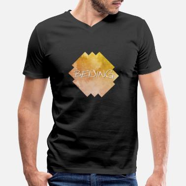 Beijing Beijing - Men's V-Neck T-Shirt by Canvas