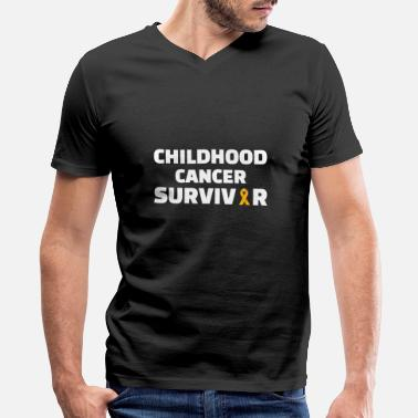 Childhood Childhood : Childhood Cancer Survivor - Men's V-Neck T-Shirt