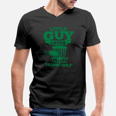 Lovely Little Drops Little Guy Loves To Disc Golf Frisbee Geschenk - Men's V-Neck T-Shirt by Canvas