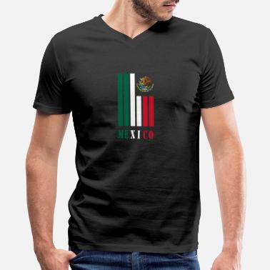 Mexico Colors Mexico beams with national colors / Gift - Men's V-Neck T-Shirt