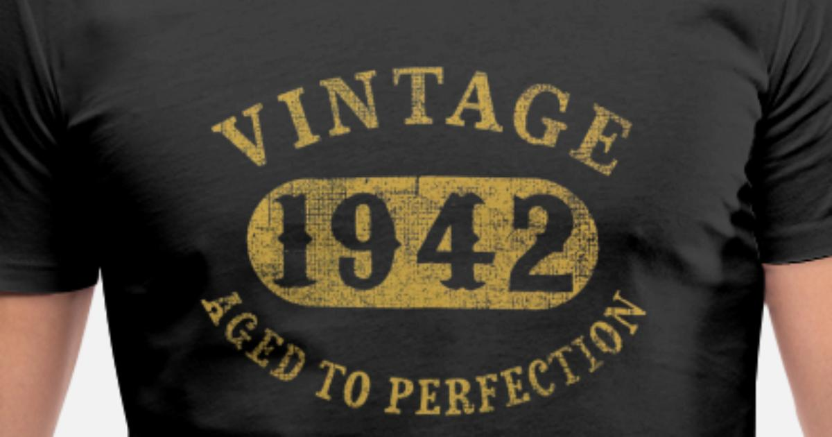 75 Years Old 75th Birthday Gift Vintage 1942 Aged Mens V Neck T Shirt