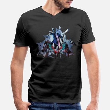 Devil Devil May Cry 5 - Men's V-Neck T-Shirt by Canvas