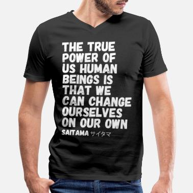 Kassel The true Power of us Human Beigns - Men's V-Neck T-Shirt by Canvas