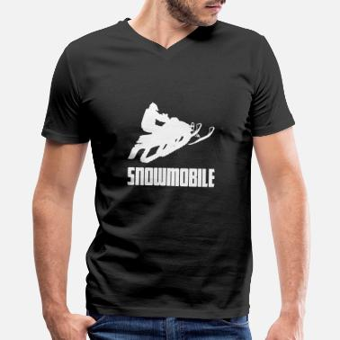 Winter Sports Snowmobile Winter Sports Snow - Men's V-Neck T-Shirt