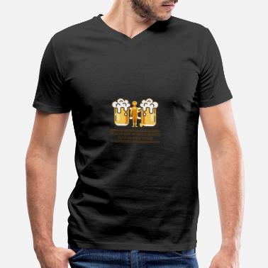Farmer farmer drinking alcohol saying beer spring - Men's V-Neck T-Shirt