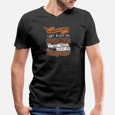 Grandchildren Names Grandchildren - Grandchildren - when my arm can' - Men's V-Neck T-Shirt by Canvas