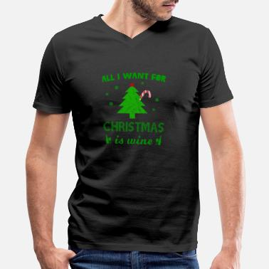 Wine Christmas Wine - Xmas Present - Men's V-Neck T-Shirt