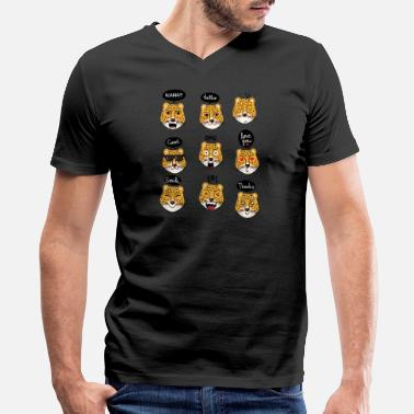 Leopard leopard - Men's V-Neck T-Shirt