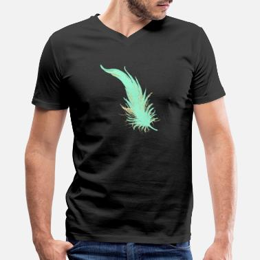 Feathered Animal Feather - Men's V-Neck T-Shirt by Canvas