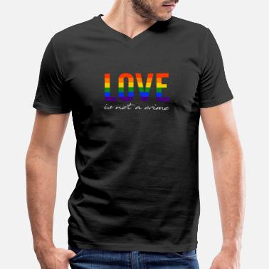 Csd LGBT Love is not a crime Gay Pride CSD Rainbow - Men's V-Neck T-Shirt