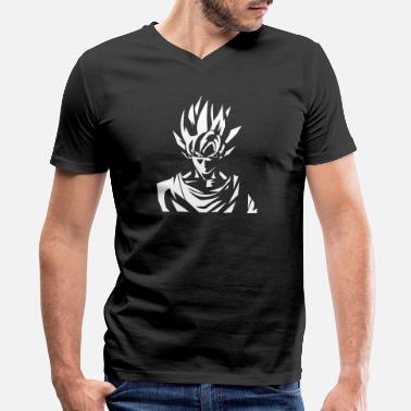 Dbz Goku GOKU - Men's V-Neck T-Shirt by Canvas