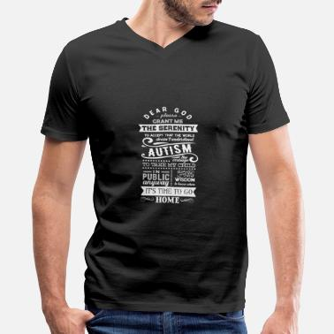 Adhd Aspergers Syndrome Autism Asperger Awareness ADHD Trisomy Gift - Men's V-Neck T-Shirt by Canvas