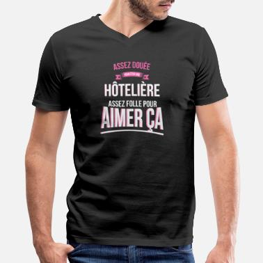 Hotelier Crazy gifted hotelier woman gift - Men's V-Neck T-Shirt