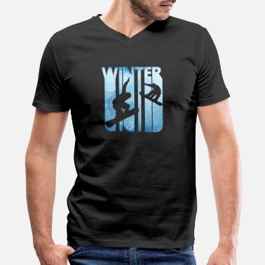 Big Air Snowboard Vintage Winter Holiday Sports. Snowboarding Gifts. - Men's V-Neck T-Shirt