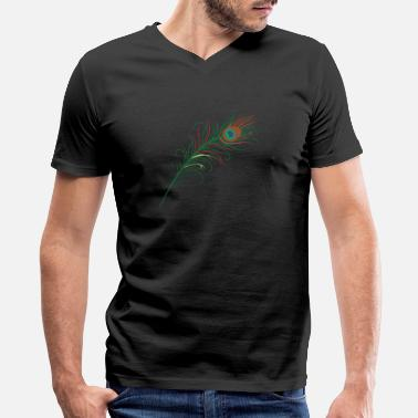 Peacock-feather Peacock Feather - Men's V-Neck T-Shirt
