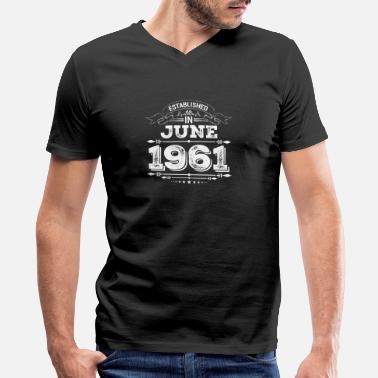 June 1961 Established in June 1961 - Men's V-Neck T-Shirt by Canvas