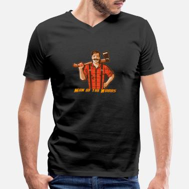 Wood Man Man of the Woods - Woodland Guy - Men's V-Neck T-Shirt by Canvas