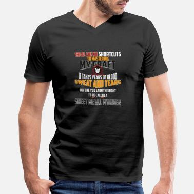 Sheet Sheet metal Worker - There Are No Shortcuts To Mas - Men's V-Neck T-Shirt