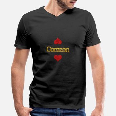 Corazon Corazon - Men's V-Neck T-Shirt