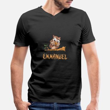 Emmanuel Emmanuel Owl - Men's V-Neck T-Shirt