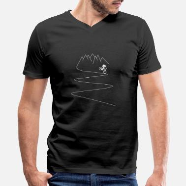 Mountain Bike mountain bike mtb mountain biker cycling - Men's V-Neck T-Shirt