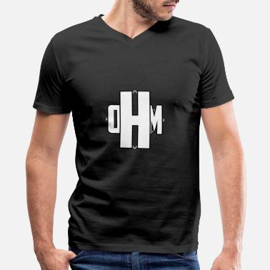 Ohms Law OHM - Men's V-Neck T-Shirt by Canvas
