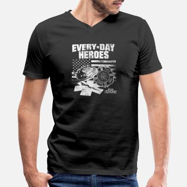 Batman Volunteer Firefighter Fire department - Everyday heroes - Men's V-Neck T-Shirt by Canvas