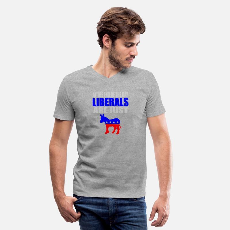 880298818 Republican - anti liberal democrat | pro republi Men's V-Neck T-Shirt |  Spreadshirt