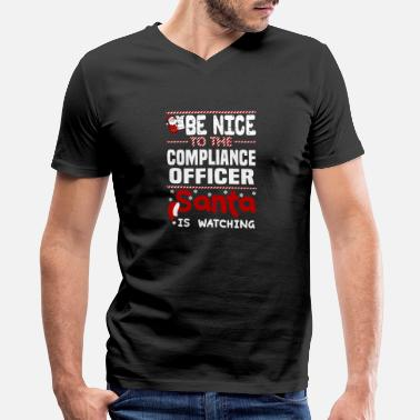 Officer Compliance Officer - Men's V-Neck T-Shirt