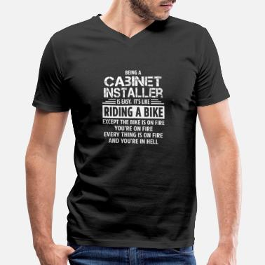 Cabinet Cabinet Installer - Men's V-Neck T-Shirt