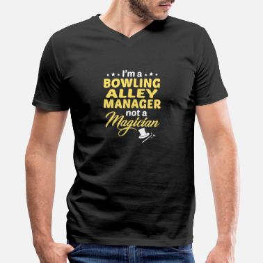 Bowling Alley Bowling Alley Manager - Men's V-Neck T-Shirt