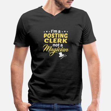 Post Posting Clerk - Men's V-Neck T-Shirt