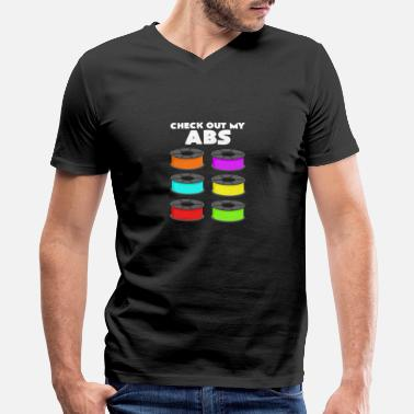 3d I have a six pack of ABS 3D printing gift - Men's V-Neck T-Shirt