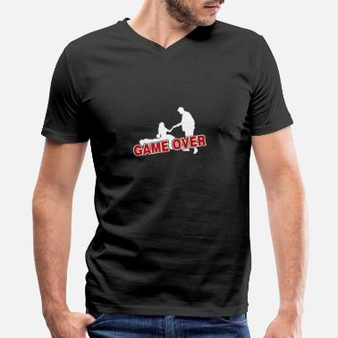 Game Over Game over - Men's V-Neck T-Shirt