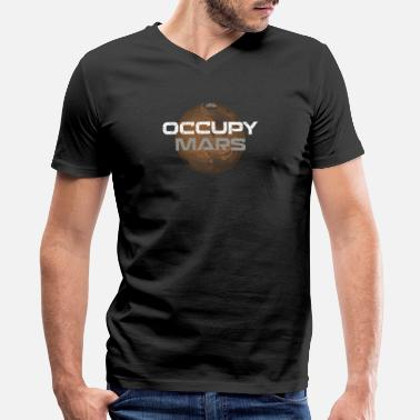 Occupy occupy mars - Men's V-Neck T-Shirt