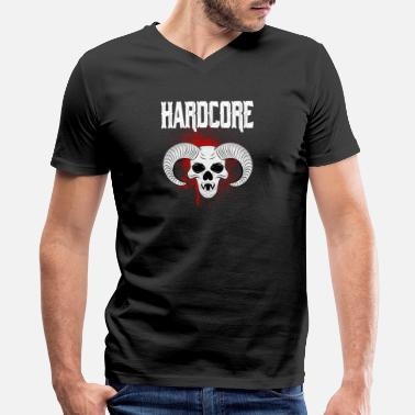 Hardcor Hardcore - Men's V-Neck T-Shirt by Canvas