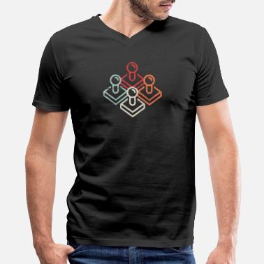 Arcade Retro Gamer Arcade Joysticks - Men's V-Neck T-Shirt