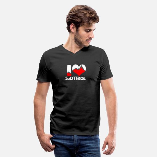 Südtirol T-Shirts - I Love Südtirol Shirt - Südtirol Gift - Men's V-Neck T-Shirt black