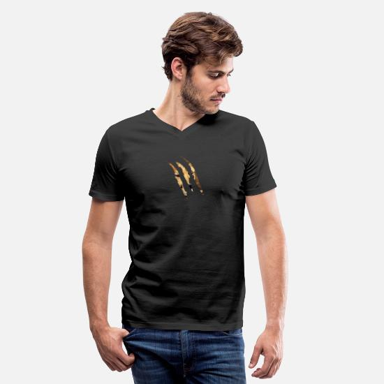Cheetah T-Shirts - Cheetah Scratch - Men's V-Neck T-Shirt black