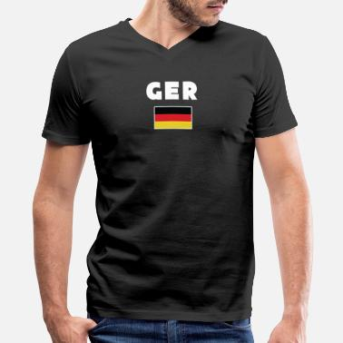 Sport Event germany ger flag shirt sport events gift - Men's V-Neck T-Shirt by Canvas