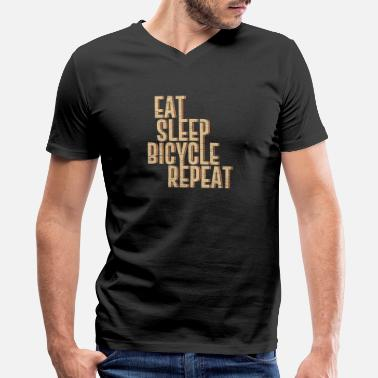 Bicycle Eat Eat sleep Bicycle Repeat gift bicycle bike - Men's V-Neck T-Shirt by Canvas